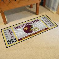 Washington Redskins Ticket Runner Rug