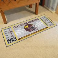 Washington Redskins Ticket Runner Rug