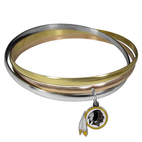 Washington Redskins Tri-color Bangle Bracelet