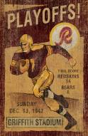 Washington Redskins Vintage Wall Art