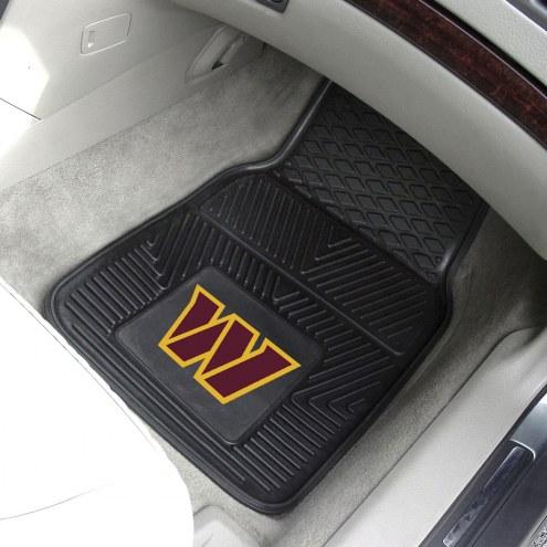 Washington Redskins Vinyl 2-Piece Car Floor Mats