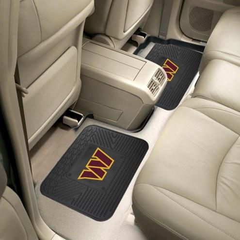 Washington Redskins Vinyl 2-Piece Rear Floor Mats