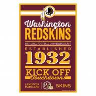Washington Redskins Established Wood Sign