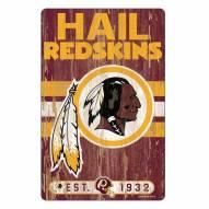 Washington Redskins Slogan Wood Sign