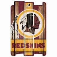 Washington Redskins Wood Fence Sign