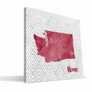 "Washington State Cougars 12"" x 12"" Home Canvas Print"
