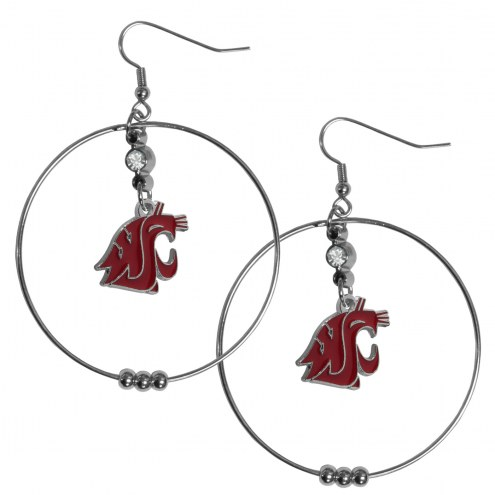 "Washington State Cougars 2"" Hoop Earrings"