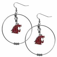 "Washington State Cougars 2"""" Hoop Earrings"