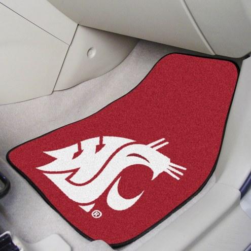 Washington State Cougars 2-Piece Carpet Car Mats