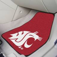 Washington State Cougars 2-Piece Carpet Car Mats