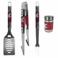 Washington State Cougars 3 Piece Tailgater BBQ Set and Season Shaker