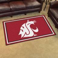 Washington State Cougars 4' x 6' Area Rug