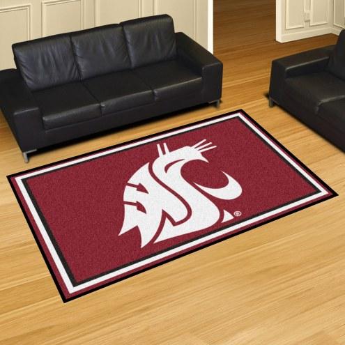 Washington State Cougars 5' x 8' Area Rug