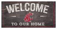 """Washington State Cougars 6"""" x 12"""" Welcome Sign"""