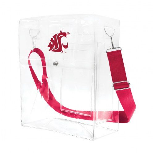 Washington State Cougars Clear Ticket Satchel