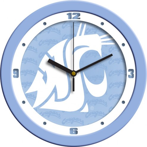 Washington State Cougars Baby Blue Wall Clock