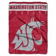 Washington State Cougars Basic Plush Raschel Blanket