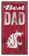 Washington State Cougars Best Dad Sign