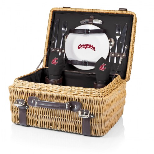 Washington State Cougars Black Champion Picnic Basket