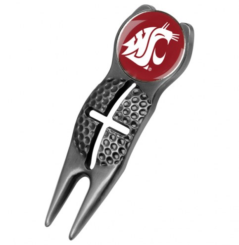 Washington State Cougars Black Crosshairs Divot Tool