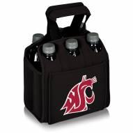 Washington State Cougars Black Six Pack Cooler Tote