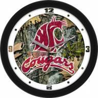 Washington State Cougars Camo Wall Clock