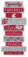 Washington State Cougars Celebrations Stack Sign