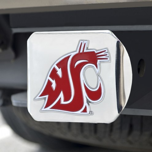 Washington State Cougars Chrome Color Hitch Cover