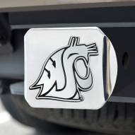 Washington State Cougars Chrome Metal Hitch Cover