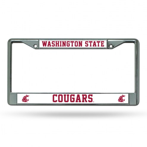 Washington State Cougars College Chrome License Plate Frame