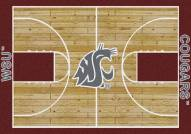 Washington State Cougars College Home Court Area Rug