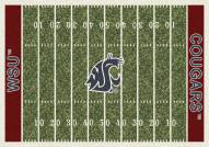 Washington State Cougars College Home Field Area Rug