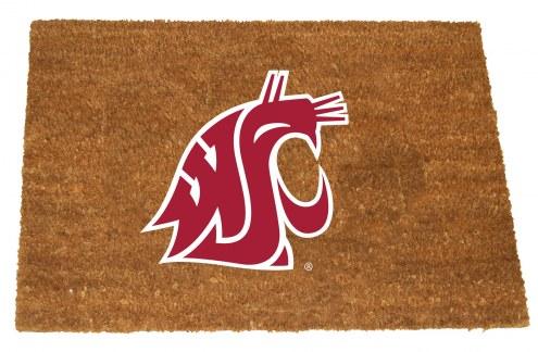Washington State Cougars Colored Logo Door Mat