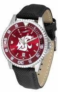 Washington State Cougars Competitor AnoChrome Men's Watch - Color Bezel