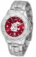 Washington State Cougars Competitor Steel AnoChrome Men's Watch