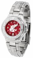 Washington State Cougars Competitor Steel AnoChrome Women's Watch