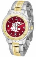 Washington State Cougars Competitor Two-Tone AnoChrome Men's Watch