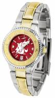 Washington State Cougars Competitor Two-Tone AnoChrome Women's Watch