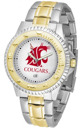 Washington State Cougars Competitor Two-Tone Men's Watch