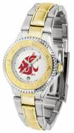 Washington State Cougars Competitor Two-Tone Women's Watch