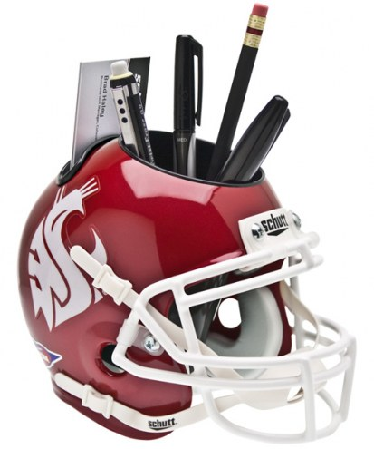 Washington State Cougars Crimson Schutt Football Helmet Desk Caddy