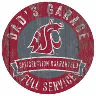 Washington State Cougars Dad's Garage Sign