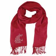 Washington State Cougars Dark Red Pashi Fan Scarf