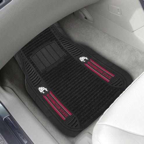 Washington State Cougars Deluxe Car Floor Mat Set