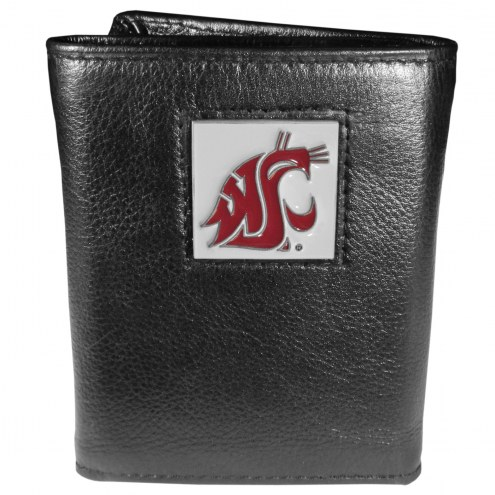 Washington State Cougars Deluxe Leather Tri-fold Wallet