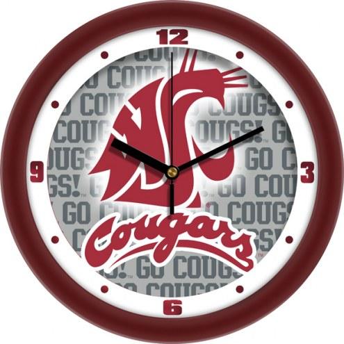 Washington State Cougars Dimension Wall Clock