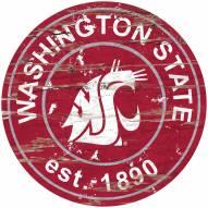 Washington State Cougars Distressed Round Sign