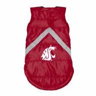 Washington State Cougars Dog Puffer Vest