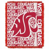 Washington State Cougars Double Play Woven Throw Blanket