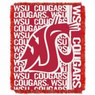 Washington State Cougars Double Play Woven Throw Blanket